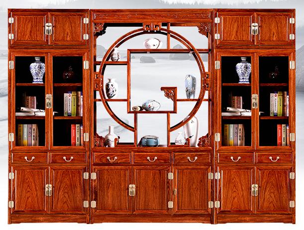 厂家直销红木家具书柜刺猬紫檀名琢世家