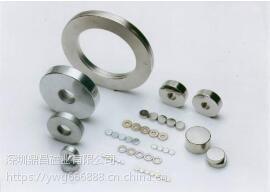 现货圆形磁铁片 长方形打孔钕铁硼强力磁铁 磁钢定做