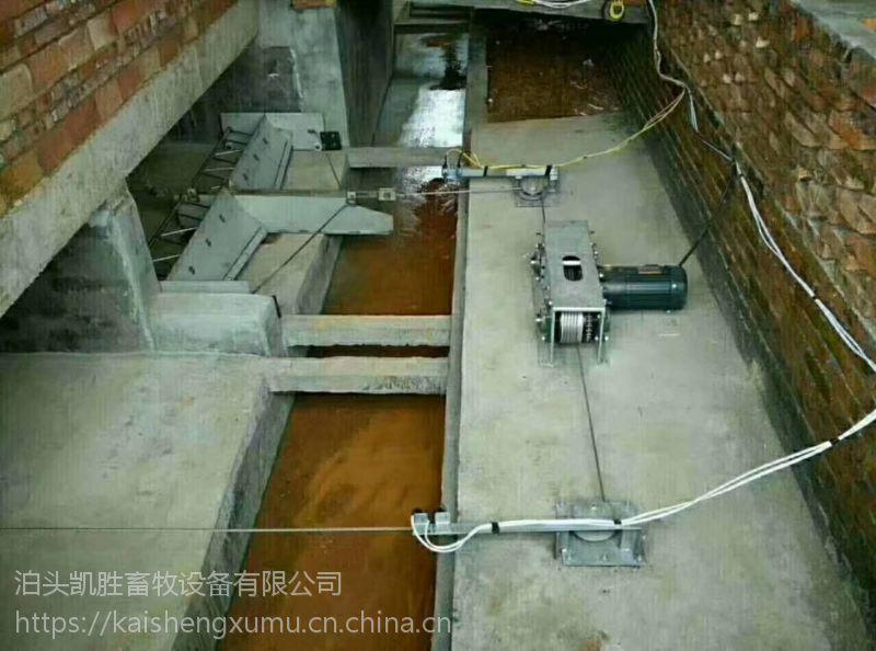 养殖户猪舍清粪设备 猪用自动化刮粪机 不锈钢刮粪板 粪尿分离式刮粪机