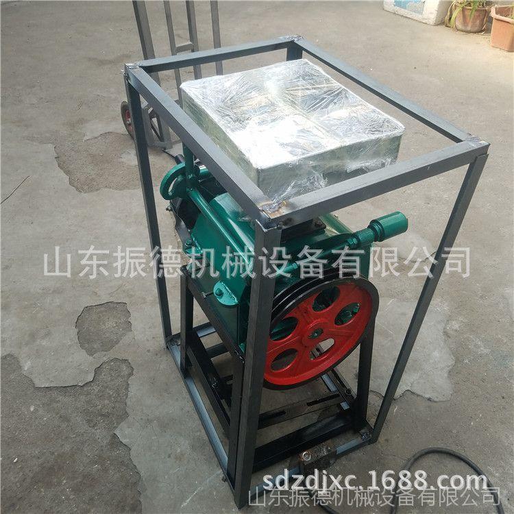 大小型熟花生米破瓣机 花生碎机器 电动对辊高粱花生破碎机 厂家