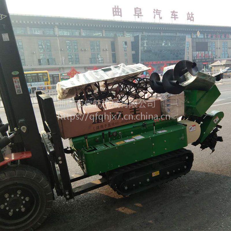 棚架果园履带式施肥回填一体机 启航柴油自走式开沟机 柴油动力果树履带式施肥机