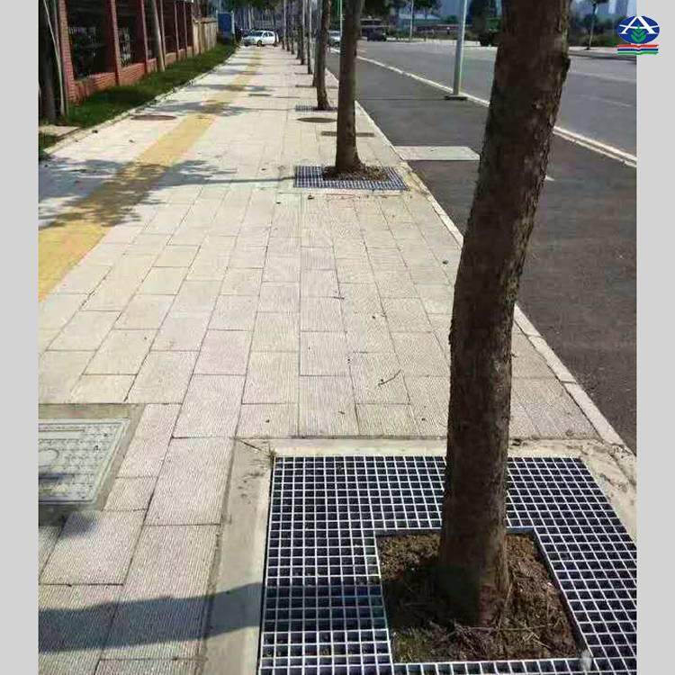 树篦子一张几平米【路边树坑护土格栅板】黄绿灰红可选25mm厚【华强】