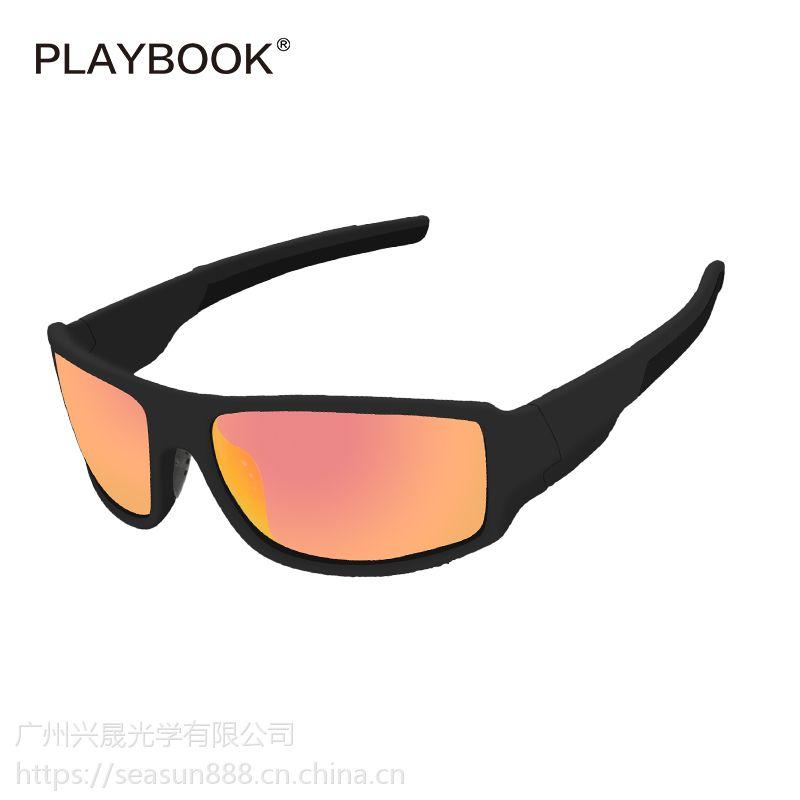 亚马逊热卖运动太阳镜 钓鱼偏光户外眼镜 跑步骑行防风眼镜
