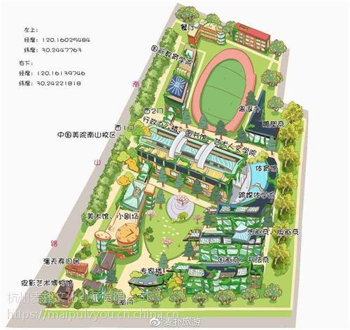 手绘地图_麦扑旅游(图)_花港观鱼手绘地图