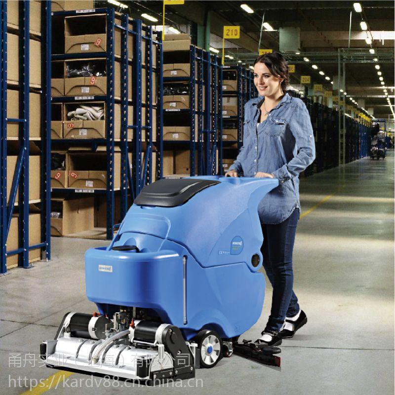 车间清洗油污地面保洁手推式洗地机,容恩洗扫一体机价格R65RBT