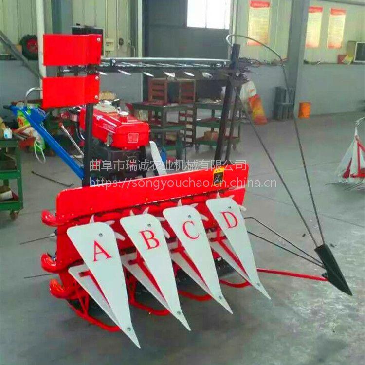 瑞诚自产 家用多行小型收割晒机 手扶拖拉机配套农用割台割晒机