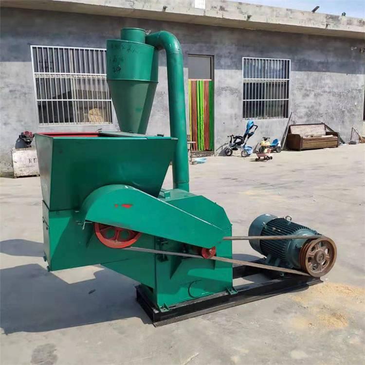 大型除尘粉碎机 自动进料草粉机 圣鲁花生秧粉碎机