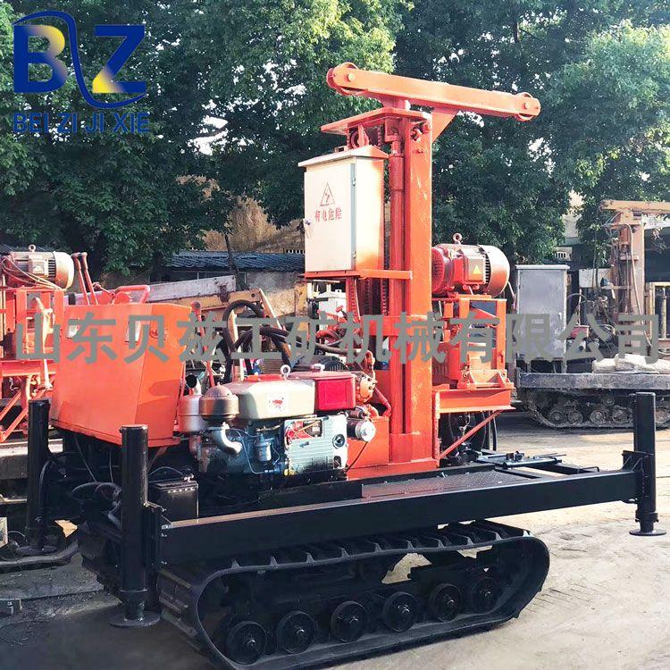 橡胶履带移动打井机 车载钻水井的机器 贝兹机械 冲击回转式钻机