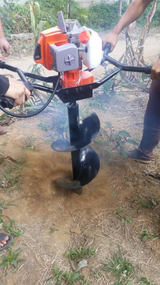 手提式轻便挖坑机 栽电线杆用钻地机 便携式打眼机