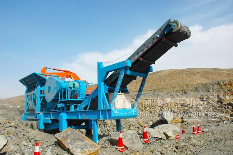 桂林投资修建铁路用移动破碎设备生产工艺及场地设计