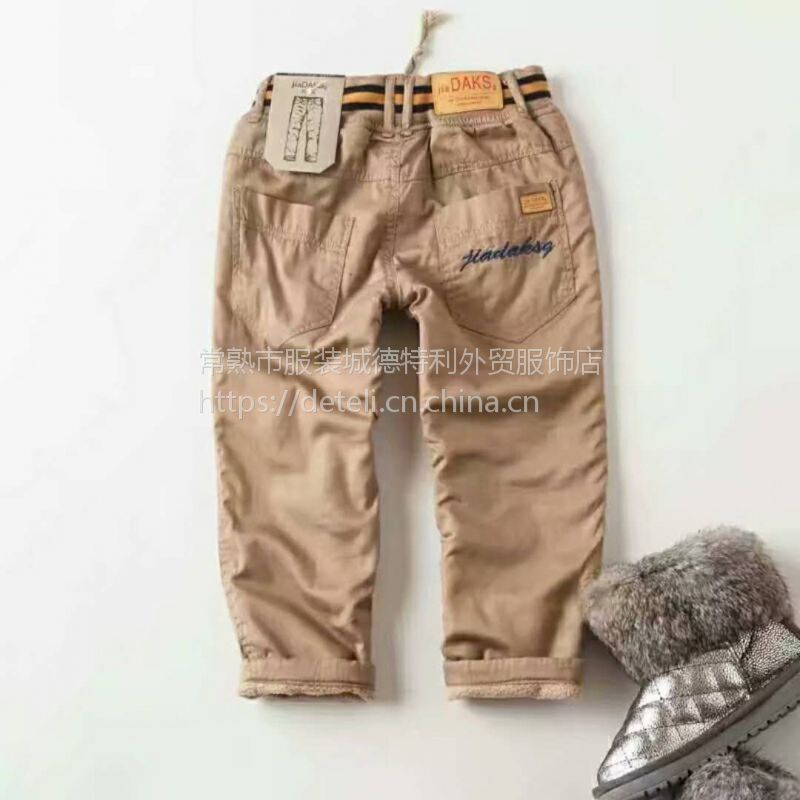 儿童冬款加绒中小童童裤、男童中腰童裤冬棉裤、批发新货