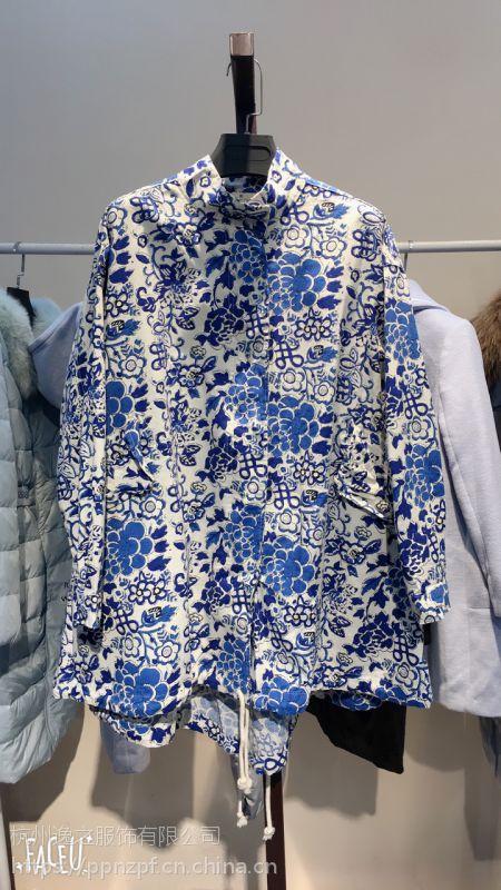 汉口北国际交易中心品牌折扣女装排行榜品牌折扣店女装古树叶冬装多种面料多色供选风衣