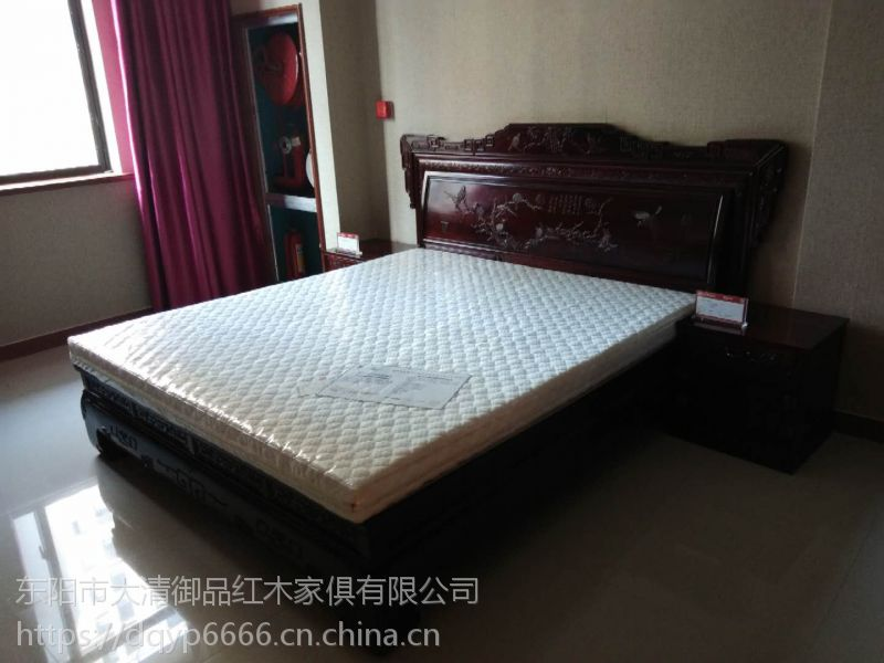 香港大清御品红木家具批发厂交趾黄檀汉宫大床3件套