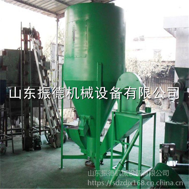 养殖饲料粉碎搅拌一体机 多用途自吸式搅拌机 饲料混合设备 振德牌