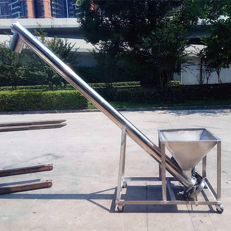 [都用]灰渣管式提升机 自吸式颗粒上料机 滑石粉螺旋提升机