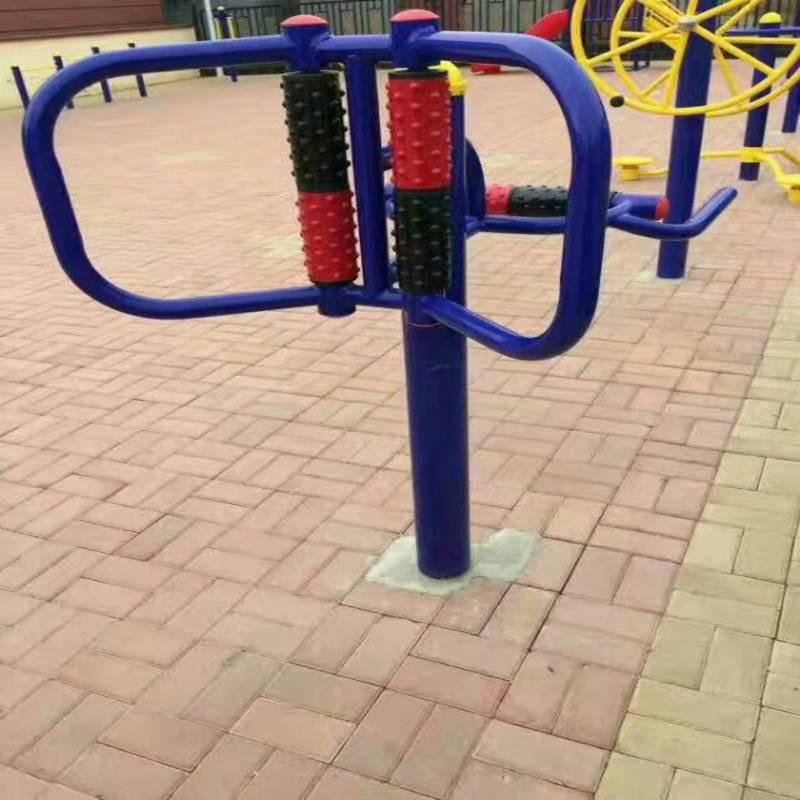 福建公园体育器材奥博厂家,双人平步机健身器材大量现货,诚信经销