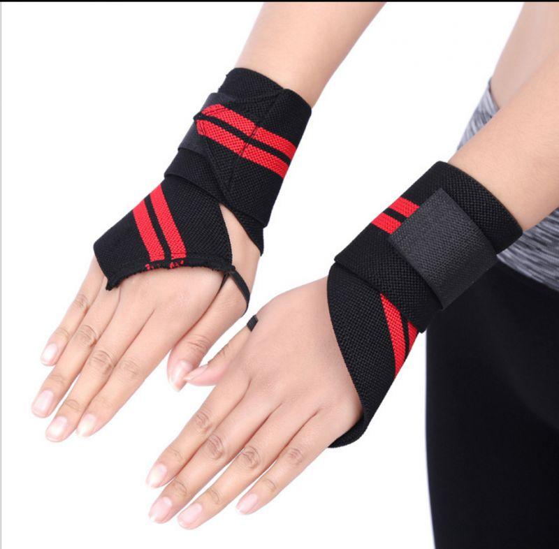 现货运动护腕带 涤纶松紧举重杠铃护腕绑带 外贸运动护具生产定制