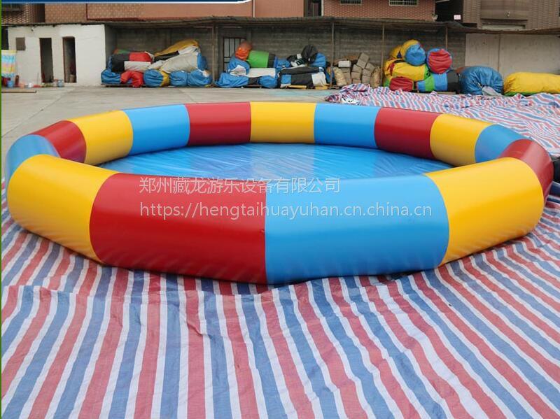 游泳池玩具大小怎么定做 60平米放水水池多少钱 整套水池充气泳池送风机