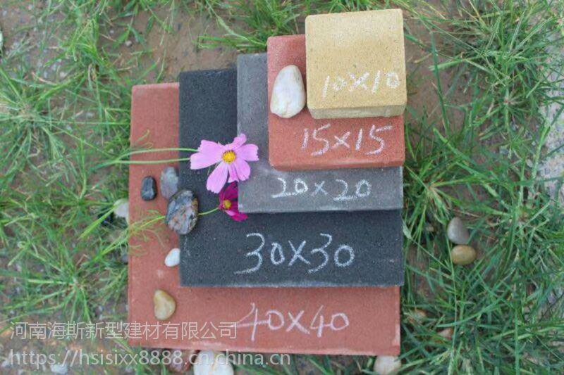河南透水砖 建菱砖 路面砖 荷兰砖 舒布洛克砖 植草砖 面包砖 200*100等多种型号颜色可定制