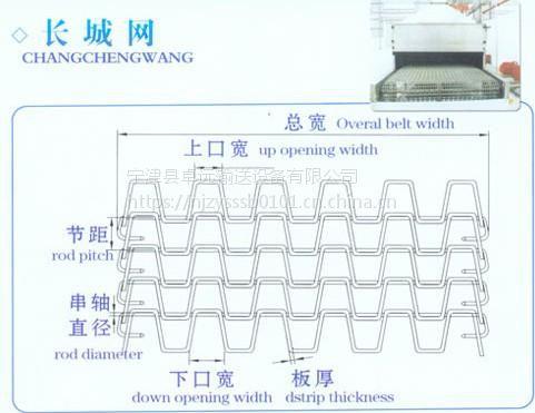 卓远厂家定制不锈钢长城网带 价格亲民