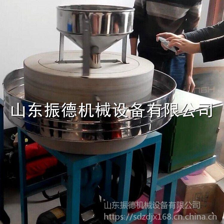 电动粗粮面粉石磨机 多用途石磨面粉机 小麦面粉机 振德牌