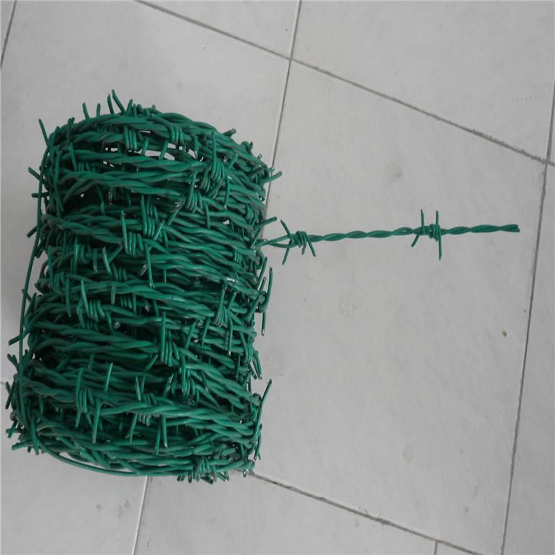 铁刺绳价格 包塑刺绳护栏 喷塑刀片刺网