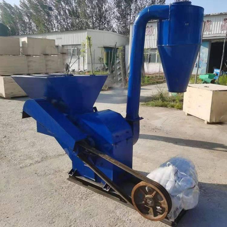 18年养殖大型粉碎机 秸秆破碎效果饲料机 末状饲草粉碎机