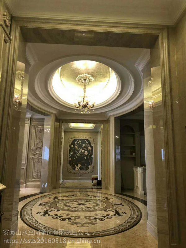 山水装饰实景作品 | 柏悦公馆258平米平层空间欧式风格设计案例