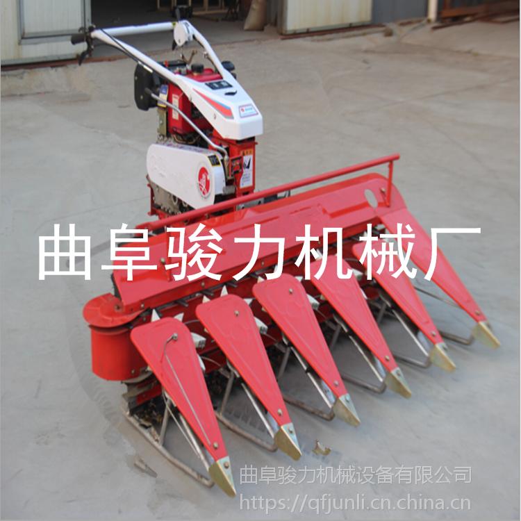 小型大豆割晒机 水稻手扶式收割机 四轮带多功能割晒机 骏力订做