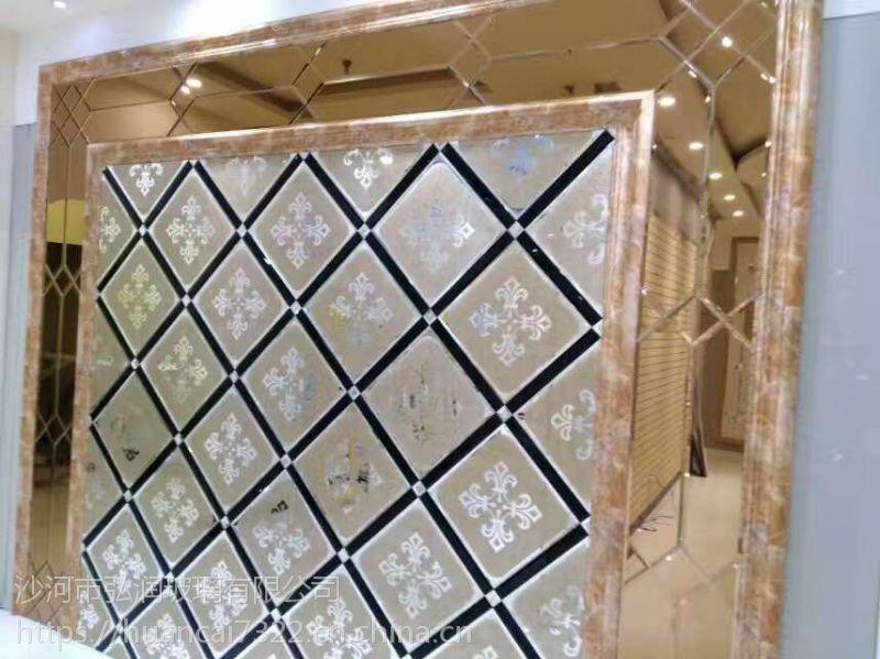 焕彩玻璃异形镜家装电视沙发艺术拼镜背景墙 银镜灰镜茶镜