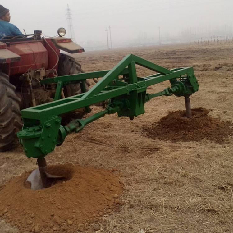 拖拉机悬挂式挖坑机 大型植树打眼机 种树挖坑机