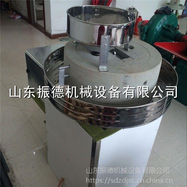 传统面粉加工石磨机 粮食加工全自动面粉机 电动石磨全麦粉机 振德牌