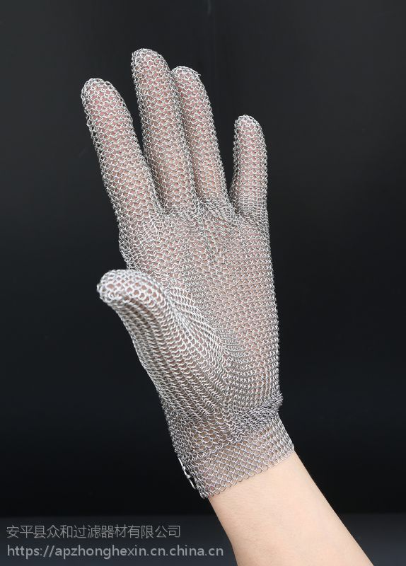 不锈钢防割钢丝手套