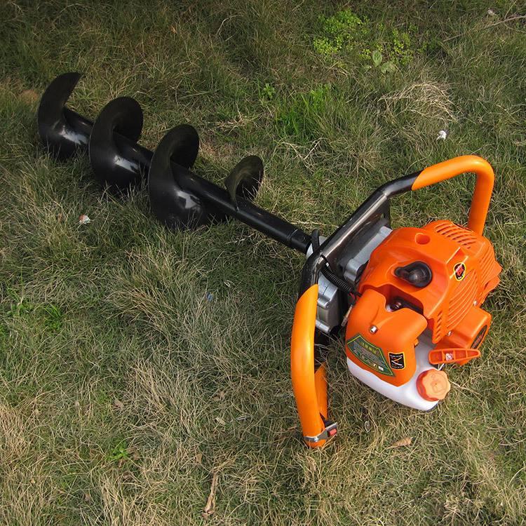 新型手推式植树钻眼机 供应可以推着满山跑的挖坑机多少钱一台