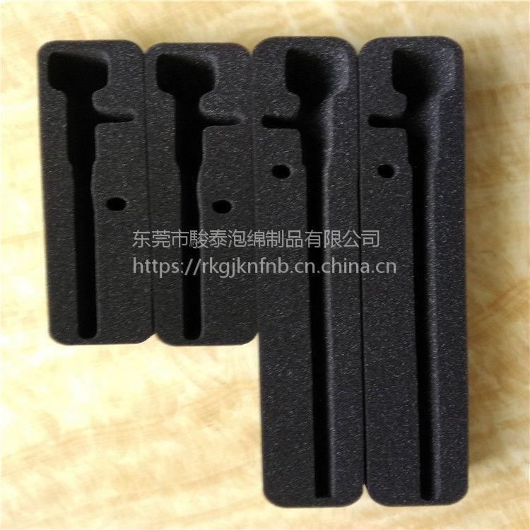 黑色海绵包装内衬 异型定位内托 软海棉加工东莞实力厂家