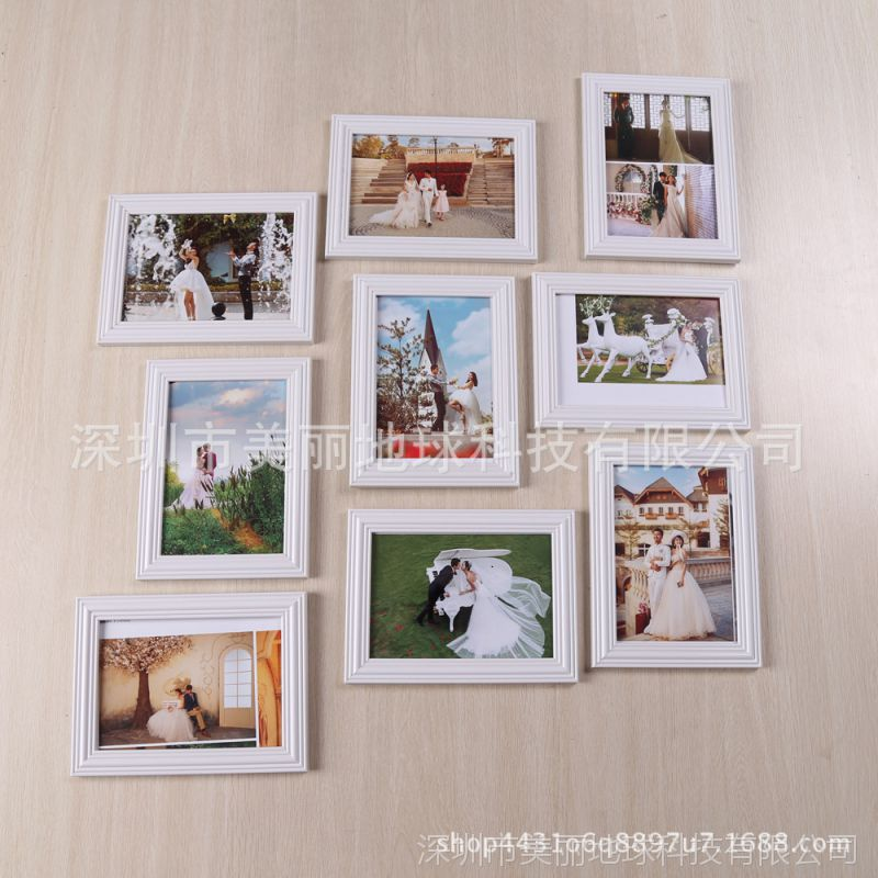 创意九宫格相框挂墙组合连体7寸像框个性全家福照片框影楼批发