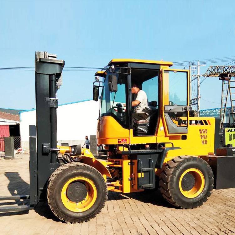 5吨提升5米三级门架越野叉车价格送货到家全国联保L