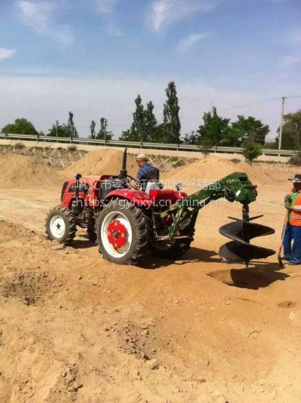 拖拉机植树挖坑机 四轮悬挂挖窝机