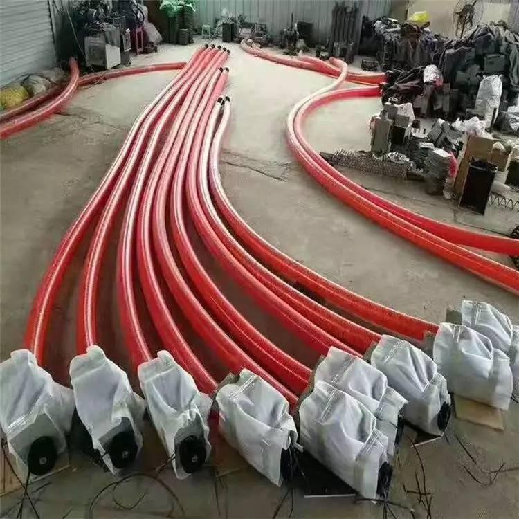 新式粮袋抽粮机 装麦子玉米上粮机 软管抽粮泵 润丰