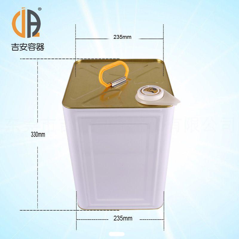 18L马口铁桶 18kg天那水铁皮桶 涂料桶