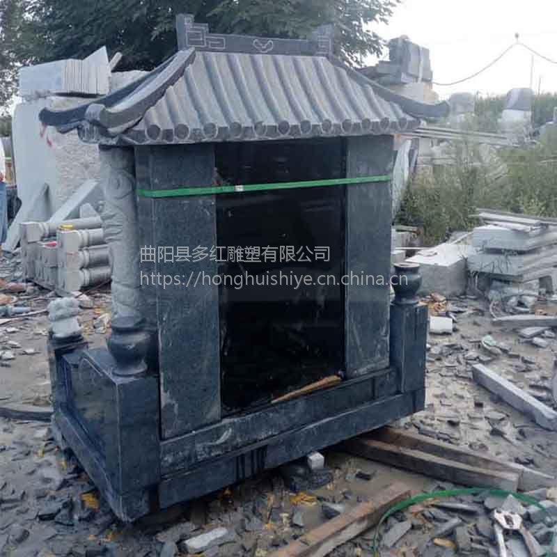 多红雕塑定制石碑家族墓大理石中国黑龙柱石雕墓碑花岗岩组合中式传统墓碑
