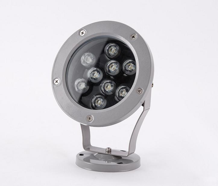 粤耀照明供应LED水底灯3W6W12W18W水池灯水下鱼缸灯七彩水景喷泉灯LED水下灯