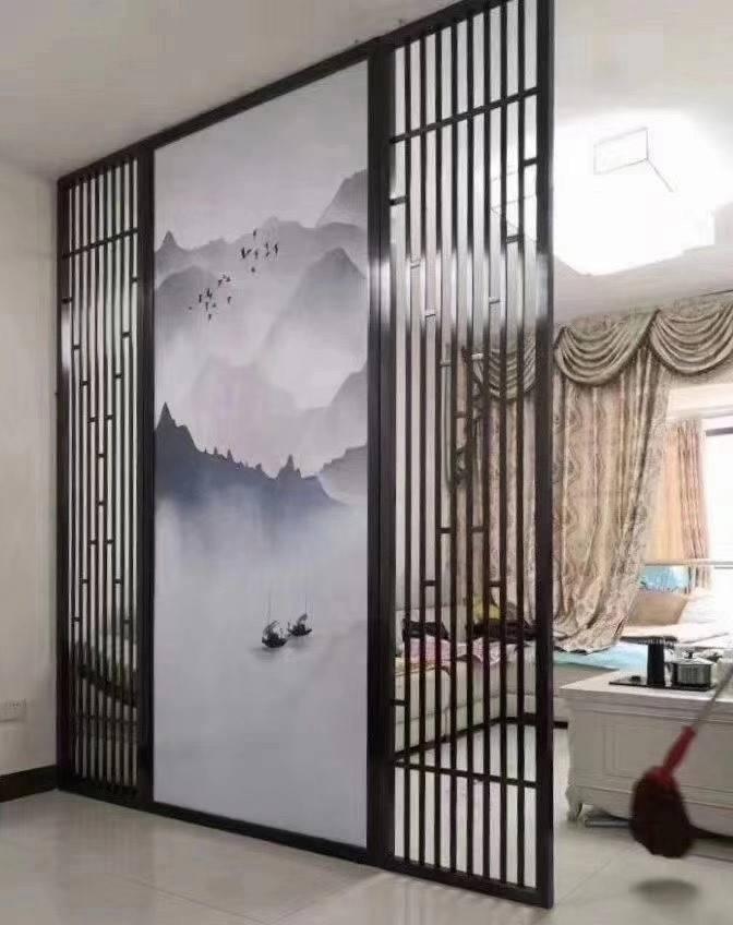 木纹仿古铝窗花 外墙装饰防盗铝窗花