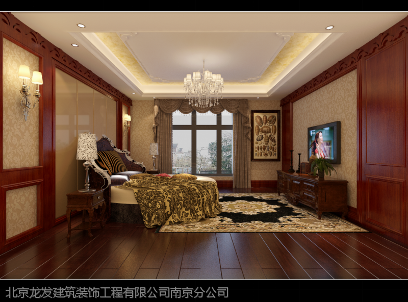凤凰风格760平方别墅装修设计|法式别墅效果图度假区惠州山庄租图片