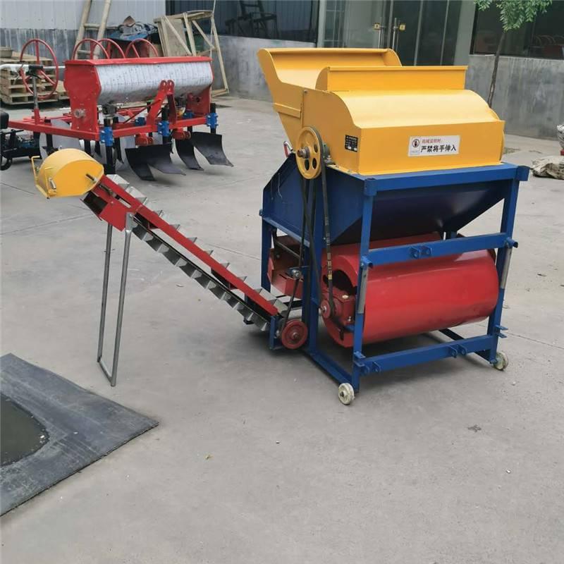 电机带打果机哪里有卖 花生秧采摘机 干湿两用果子摘果机