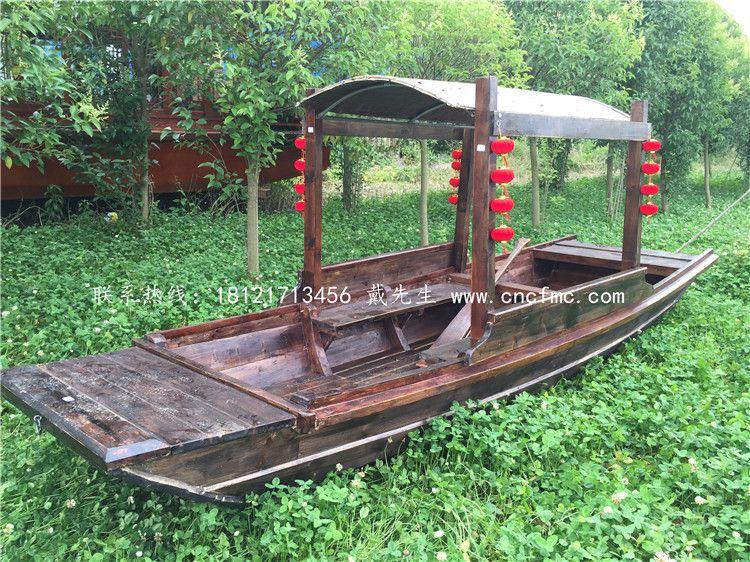 各景区带篷子船哪有 兴化楚风供应 仿古木船 休闲钓鱼手划船