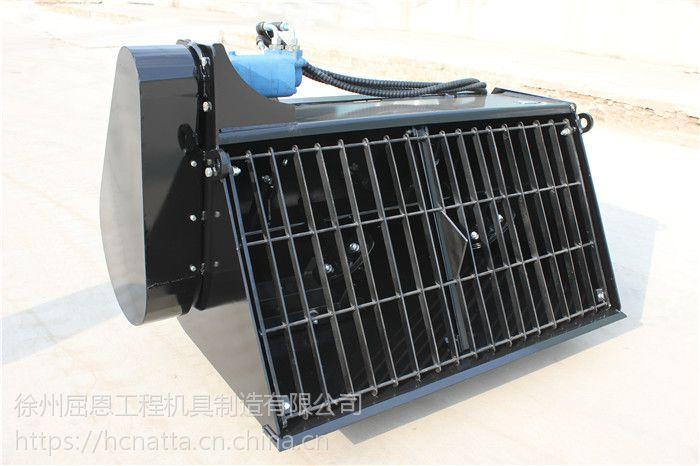 HCN屈恩机具混凝土搅拌斗厂家 滑移装载机配混凝土搅拌斗价格