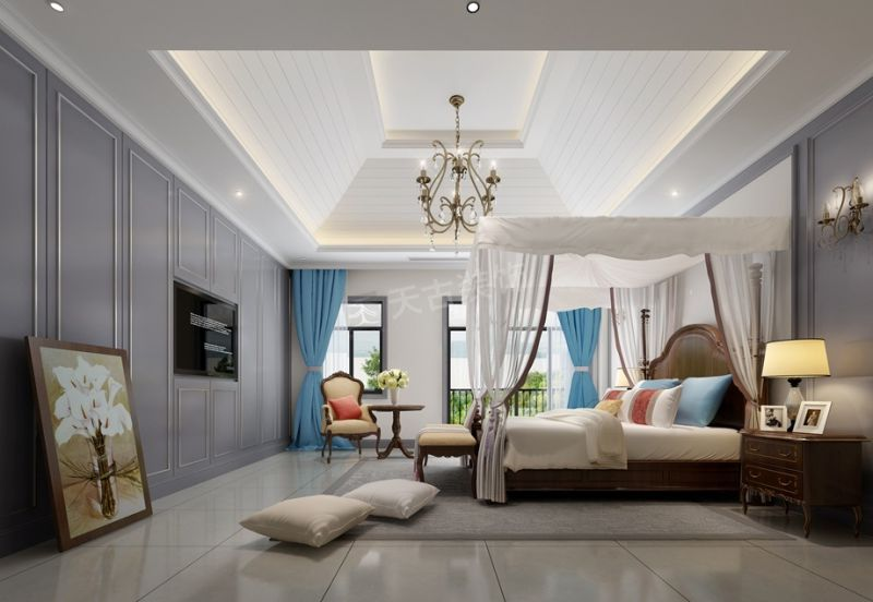 北欧风格别墅装修案例 橡树澜湾装修图纸设计方案