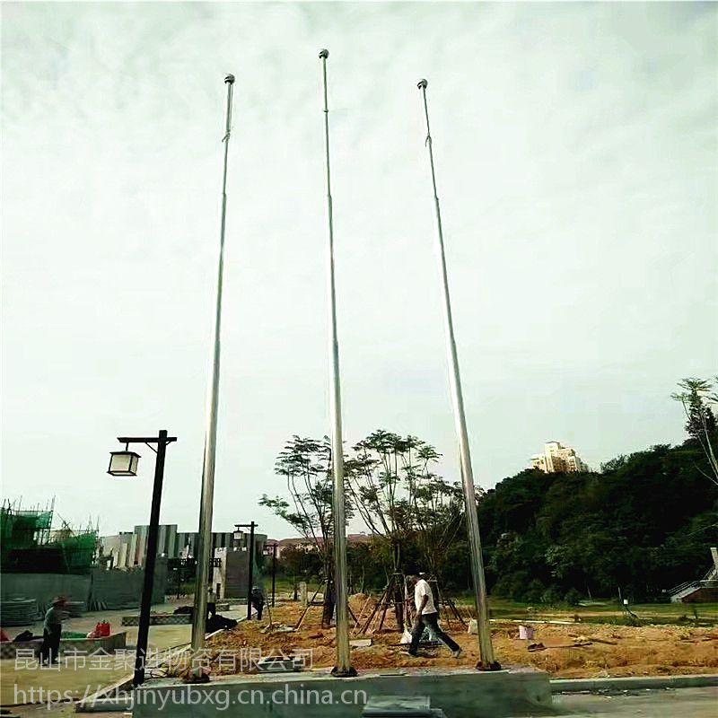 金裕 304不锈钢电动奏乐旗杆 学校升旗仪式不锈钢旗杆