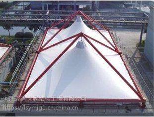 忻州门球场膜结构罩棚,张拉膜主席台安装,污水池膜加盖施工,赛德乐